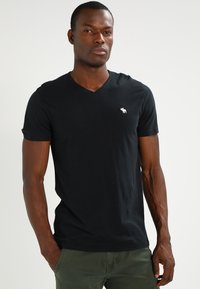 Abercrombie & Fitch - VNECK 3 PACK - T-shirts basic - white/black/grey - 3