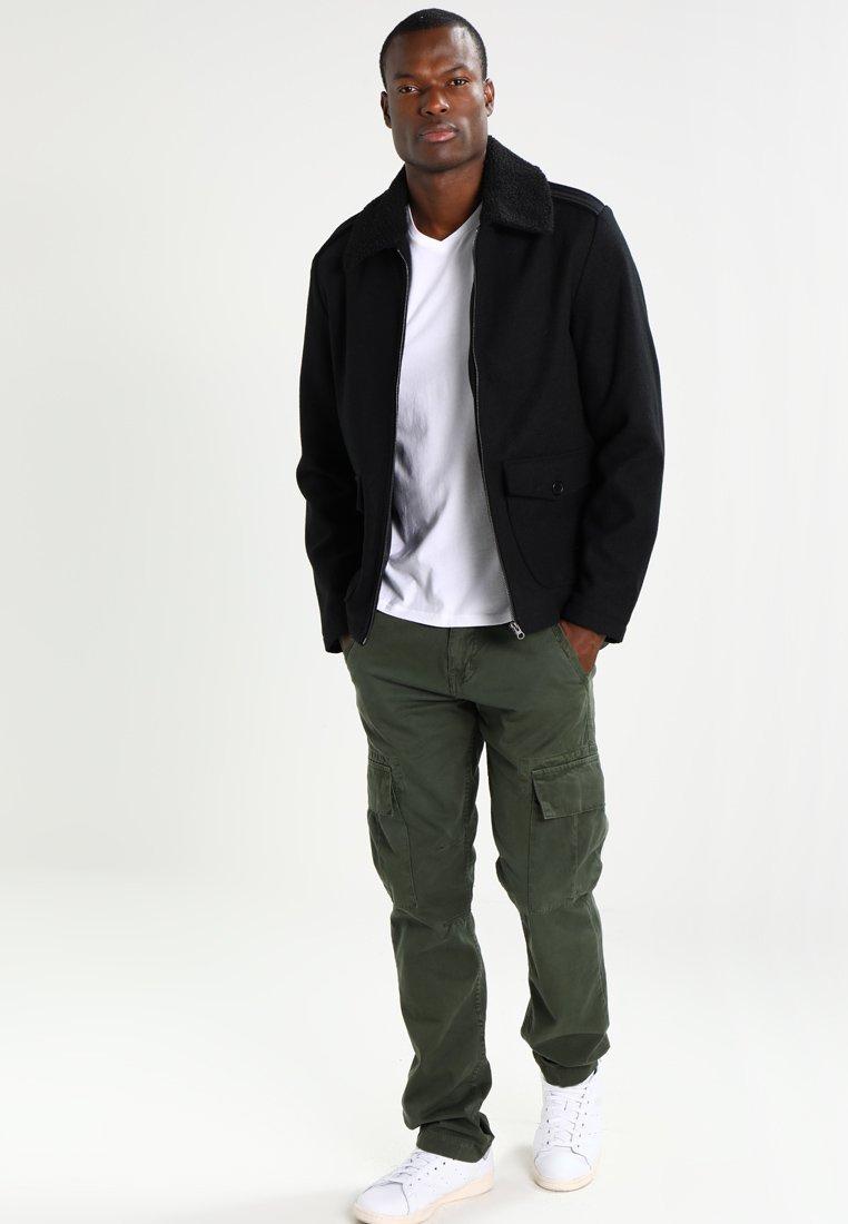 Abercrombie & Fitch - VNECK 3 PACK - T-shirt basique - white/black/grey