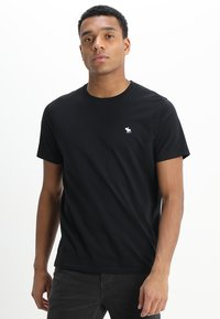 Abercrombie & Fitch - POP ICON CREW - Basic T-shirt - black - 0
