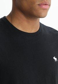 Abercrombie & Fitch - POP ICON CREW - Basic T-shirt - black - 3