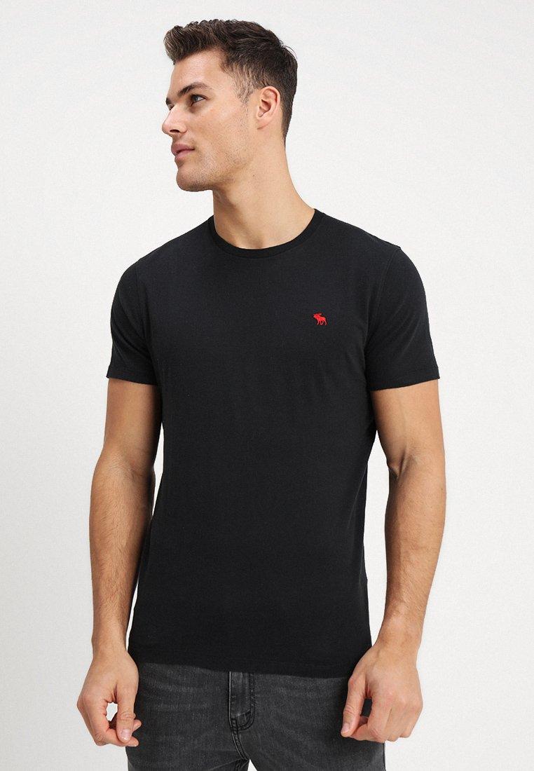 Abercrombie & Fitch - POP ICON CREW - T-shirt basique - black