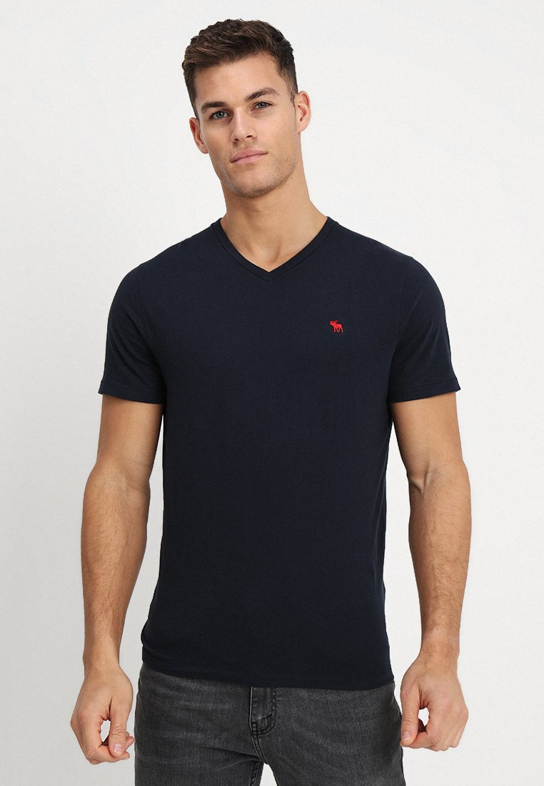 Abercrombie & Fitch - T-shirt basique - navy