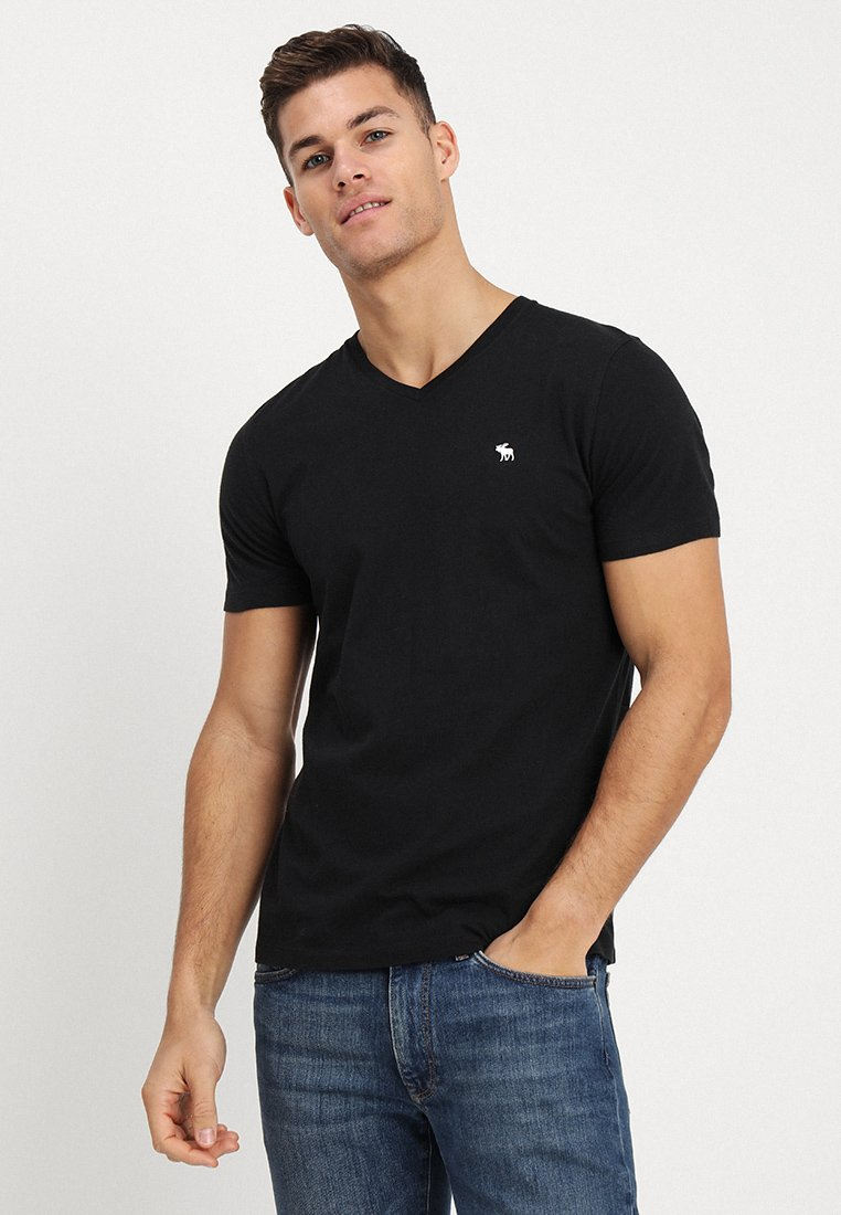 Abercrombie & Fitch - POP ICON - T-Shirt basic - black