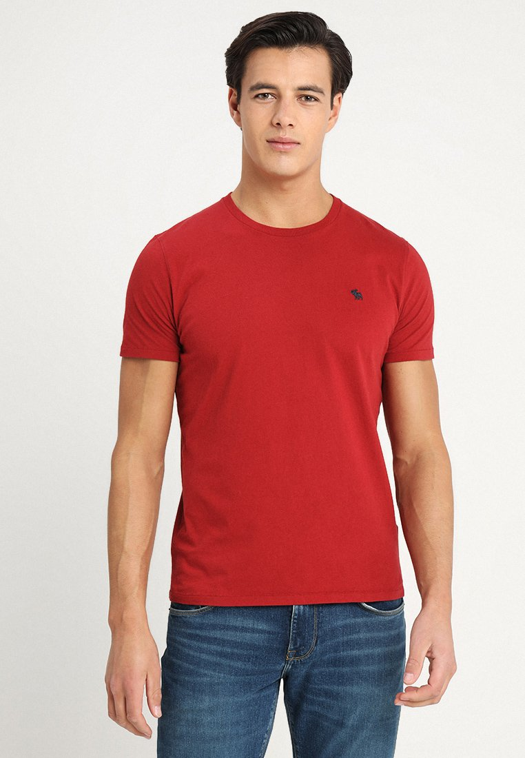 Abercrombie & Fitch - ICON CREW  - Printtipaita - red