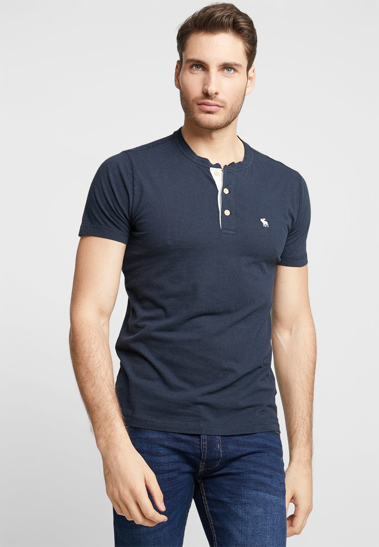 Abercrombie & Fitch - ICON HENLEY NEUTRAL - Basic T-shirt - navy