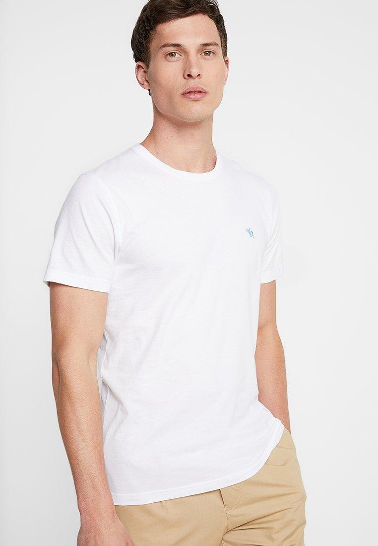 Abercrombie & Fitch - POP ICON CREW - Jednoduché triko - white