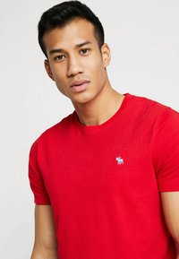 Abercrombie & Fitch - POP ICON CREW - Jednoduché triko - red - 3