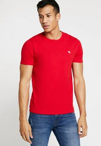 Abercrombie & Fitch - POP ICON CREW - Jednoduché triko - red - 0