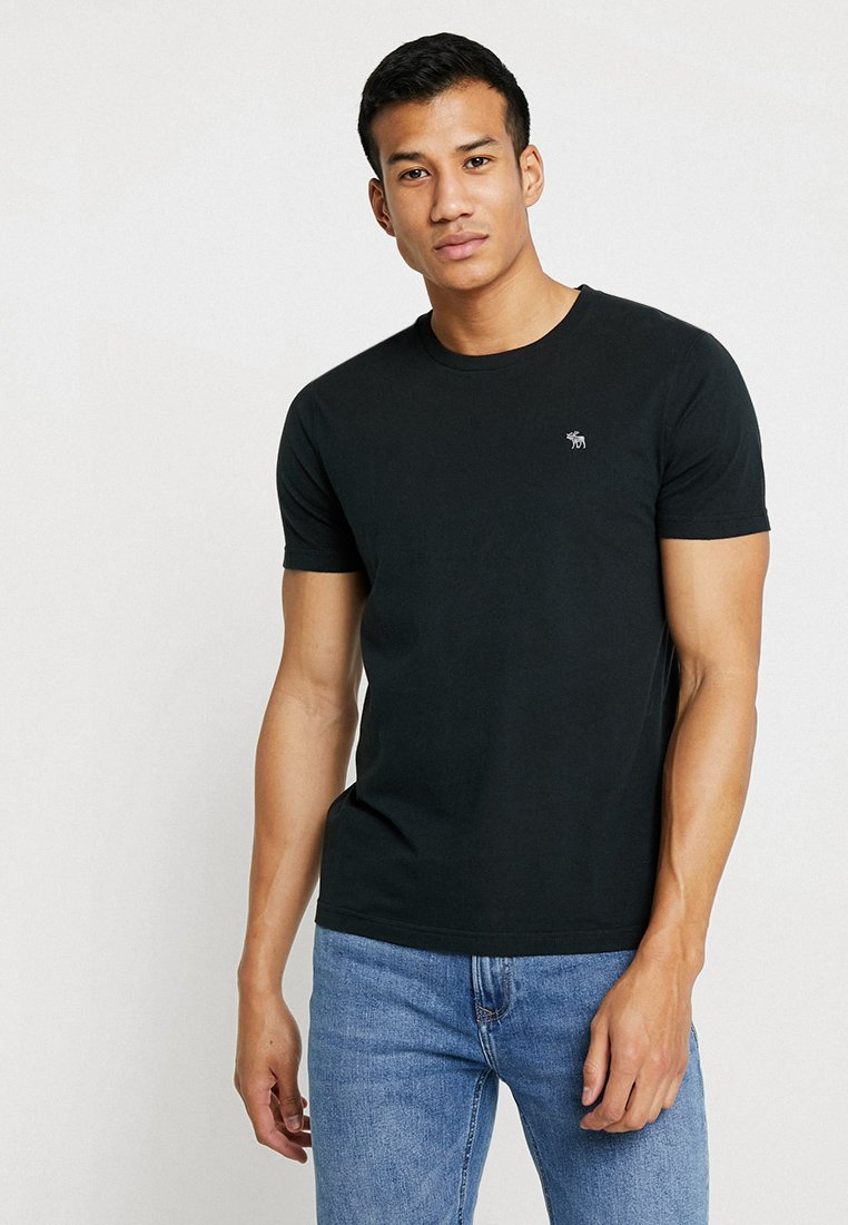 Abercrombie & Fitch - POP ICON CREW - T-Shirt basic - black