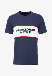 Abercrombie & Fitch - TECH LOGO CHEST - T-shirts med print - navy - 3