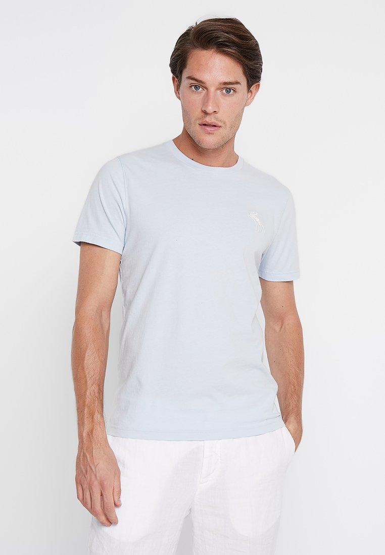 Abercrombie & Fitch - POP ICON CREW - Basic T-shirt - light blue