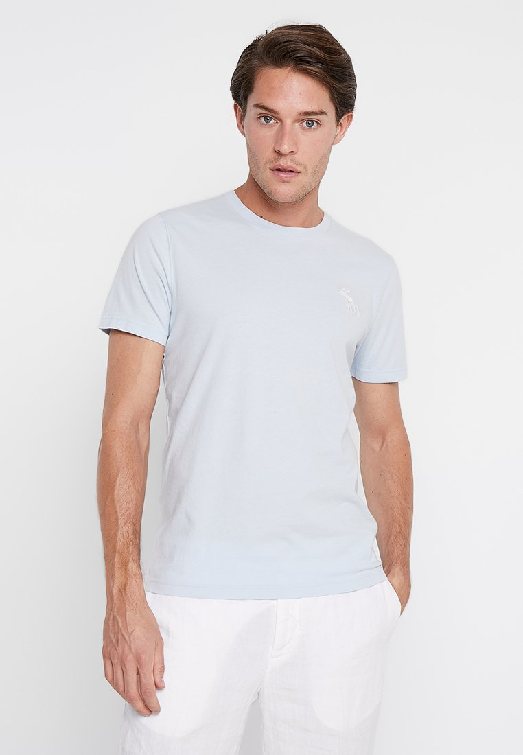 Abercrombie & Fitch - POP ICON CREW - T-shirts - light blue