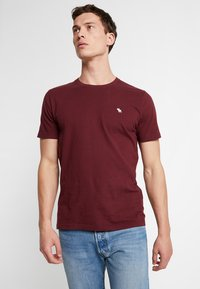 Abercrombie & Fitch - POP ICON CREW - Basic T-shirt - port royale - 0