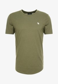 Abercrombie & Fitch - ICON CURVED - Jednoduché triko - green - 3