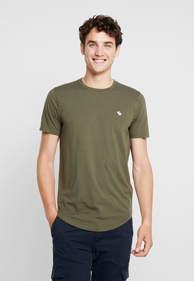 Abercrombie & Fitch - ICON CURVED - Jednoduché triko - green