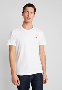 Abercrombie & Fitch - POP ICON CREW  - Basic T-shirt - white - 0