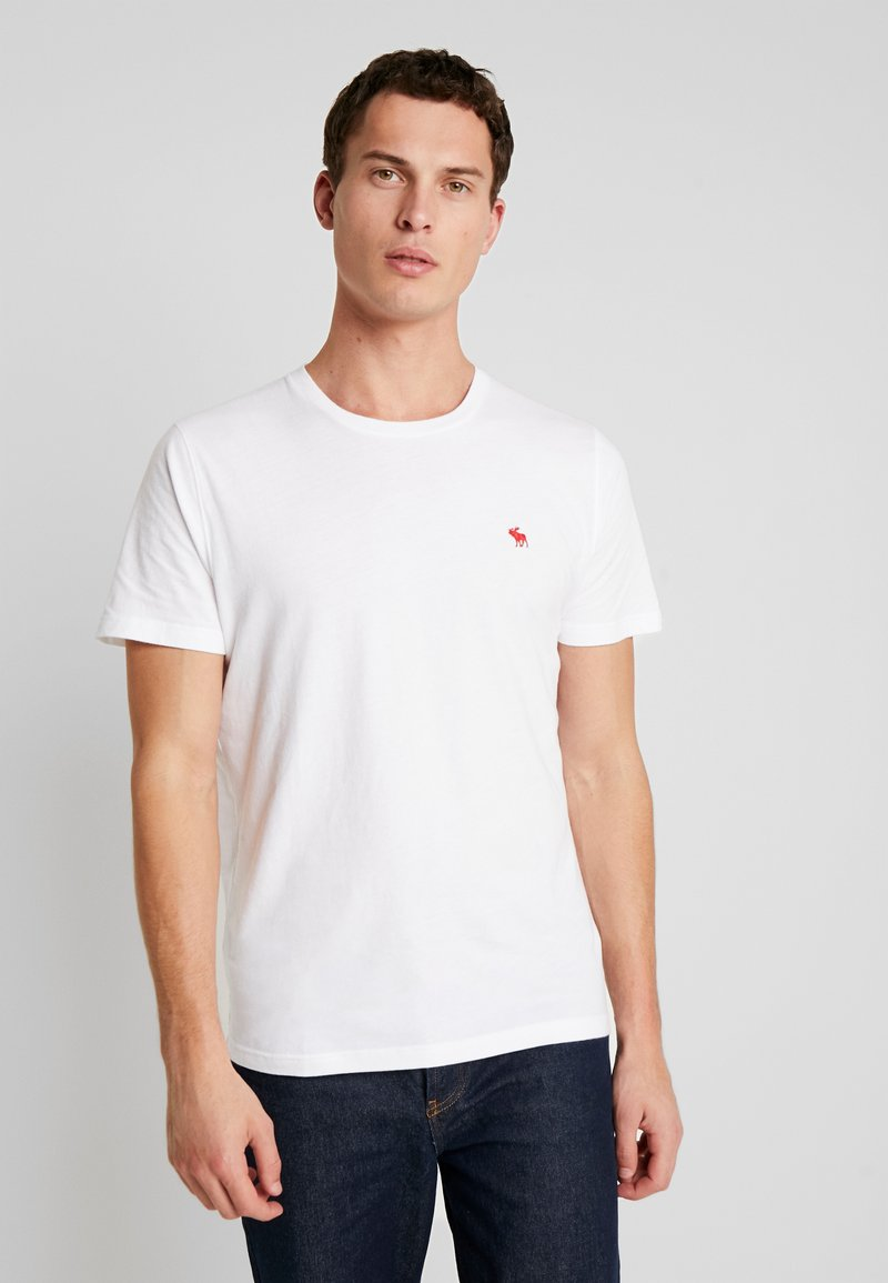 Abercrombie & Fitch - POP ICON CREW  - T-shirt basic - white