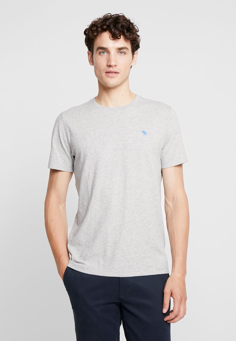 Abercrombie & Fitch - POP ICON CREW  - T-shirt basic - grey