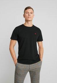 Abercrombie & Fitch - POP ICON CREW  - T-shirt basic - black - 0