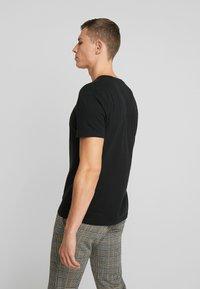 Abercrombie & Fitch - POP ICON CREW  - T-shirt basic - black - 2
