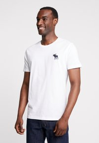 Abercrombie & Fitch - EXPLODED ICON CREW 3 PACK - T-shirt - bas - white/green/burgundy - 2