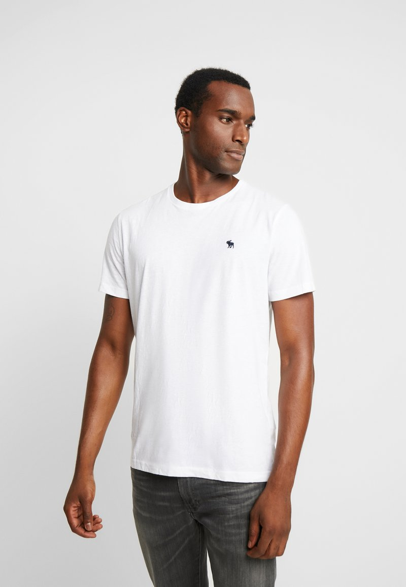 Abercrombie & Fitch - MULTIPACK CREW  3Pack - T-Shirt basic - white