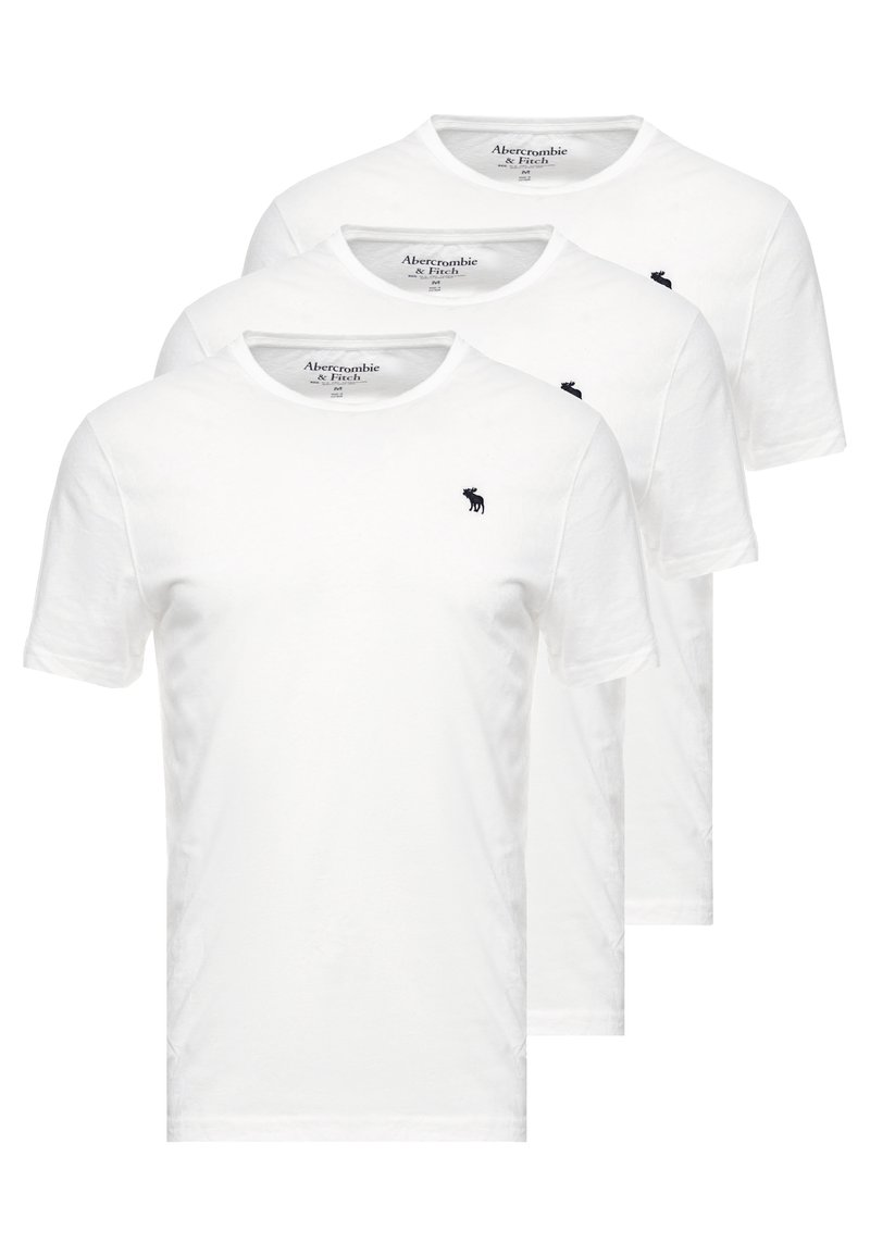 Abercrombie & Fitch - MULTIPACK CREW  3Pack - Jednoduché triko - white