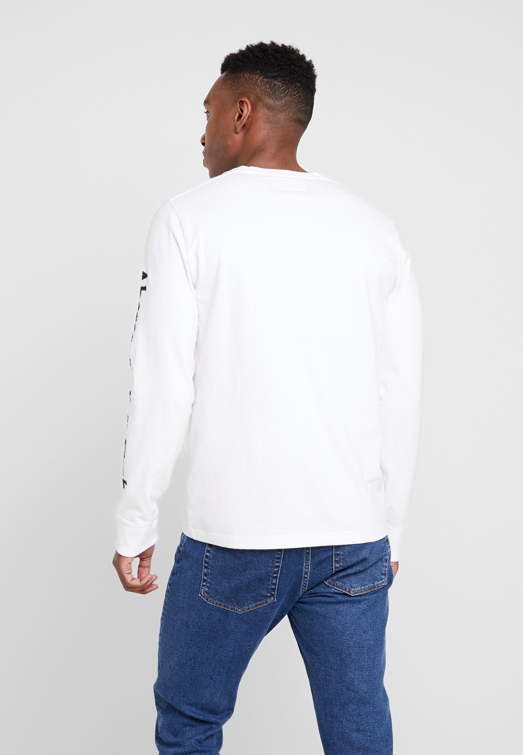 Abercrombie & Fitch HOLIDAY PLAITED UPDATE - Bluzka z długim rękawem - white
