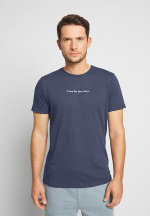 LOCKUP TECH - T-shirt imprimé - navy