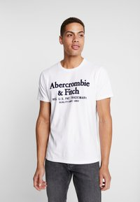 Abercrombie & Fitch - APPLIQUE HERITAGE  - T-shirt print - white - 0