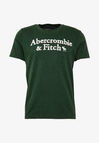 Abercrombie & Fitch - HOLIDAY APPLIQUE  - T-shirt imprimé - green - 3