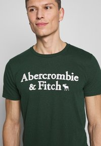 Abercrombie & Fitch - HOLIDAY APPLIQUE  - T-shirt imprimé - green - 4