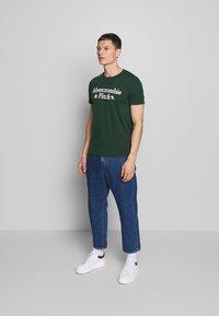 Abercrombie & Fitch - HOLIDAY APPLIQUE  - T-shirt imprimé - green - 1