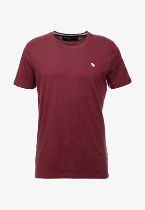 POP ICON CREW FRINGE - Camiseta básica - burgundy