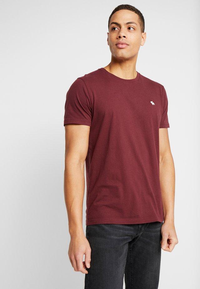 POP ICON CREW FRINGE - T-shirt basic - burgundy