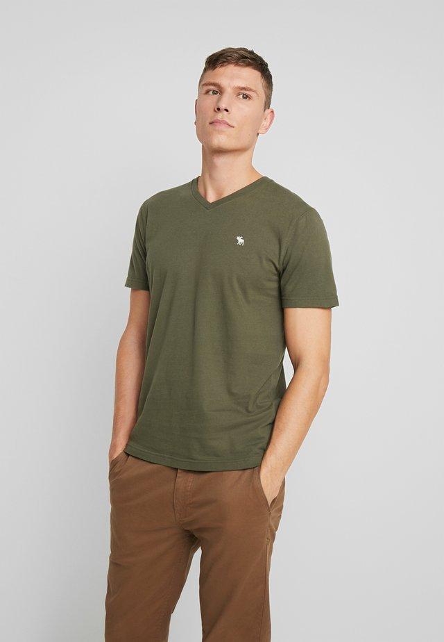 POP ICON VEE FRINGE - T-shirt imprimé - olive