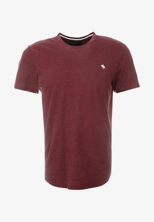 CURVED HEM ICON - T-shirt med print - burgundy