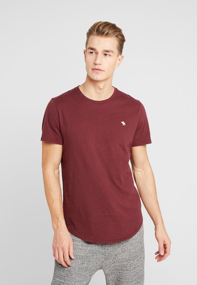 CURVED HEM ICON - T-shirt print - burgundy