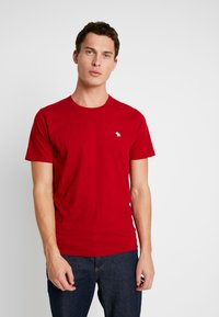 Abercrombie & Fitch - CREW 3 PACK - Basic T-shirt - red/grey/green - 1