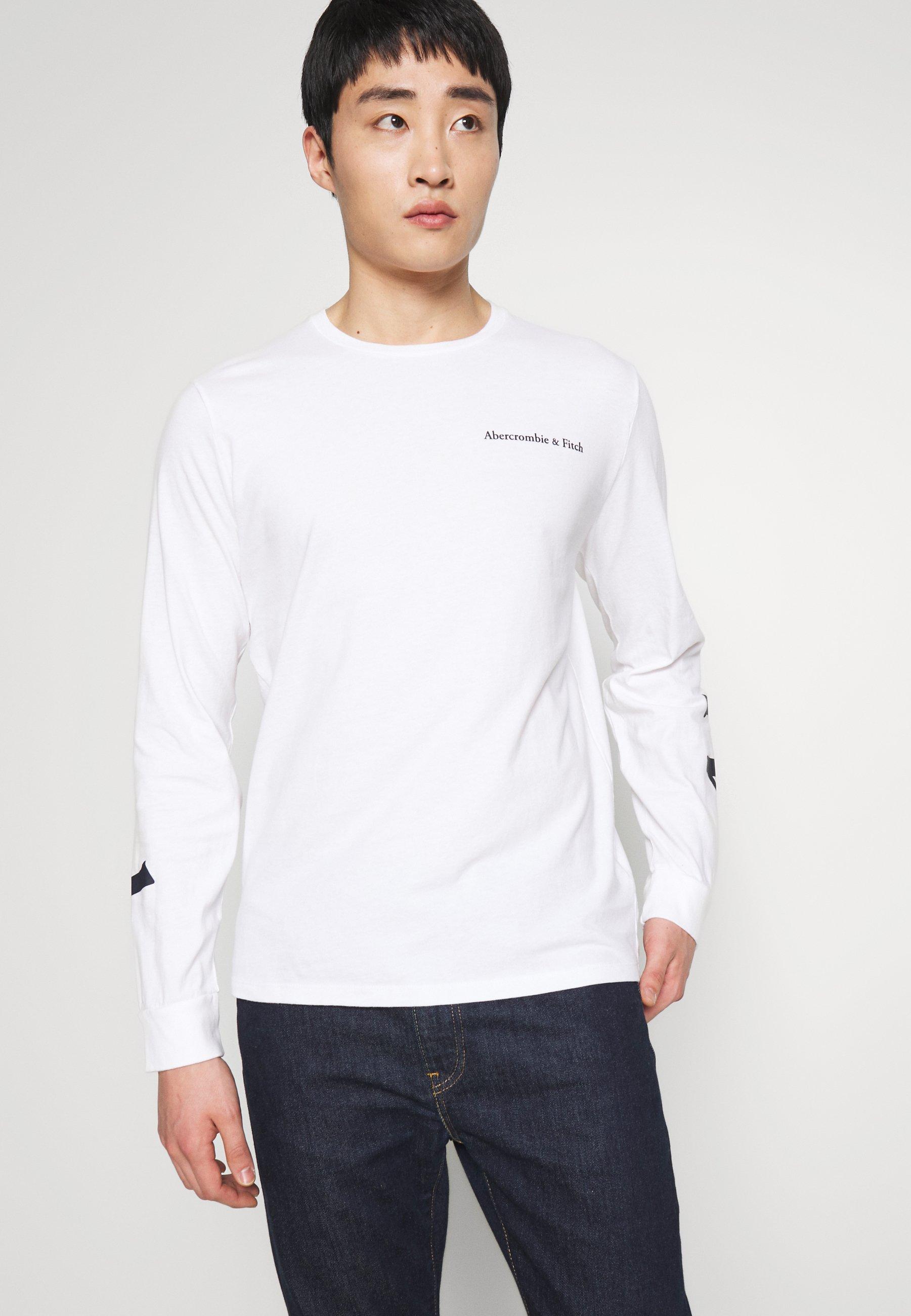 Abercrombie & Fitch CORE - Bluzka z długim rękawem - white