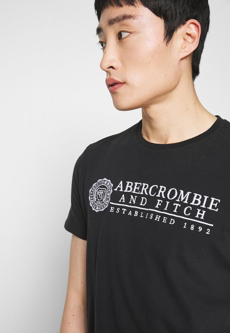 Abercrombie & Fitch HERITAGE - T-shirts med print - black