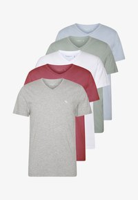 Abercrombie & Fitch - 5 PACK - Basic T-shirt - red/blue/white - 6