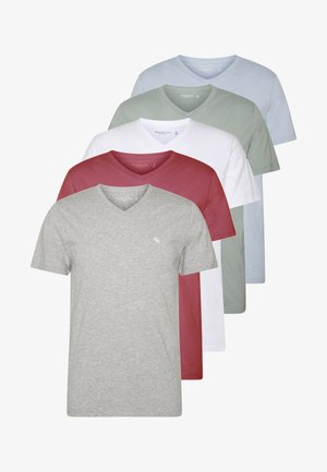 5 PACK - T-shirts - red/blue/white