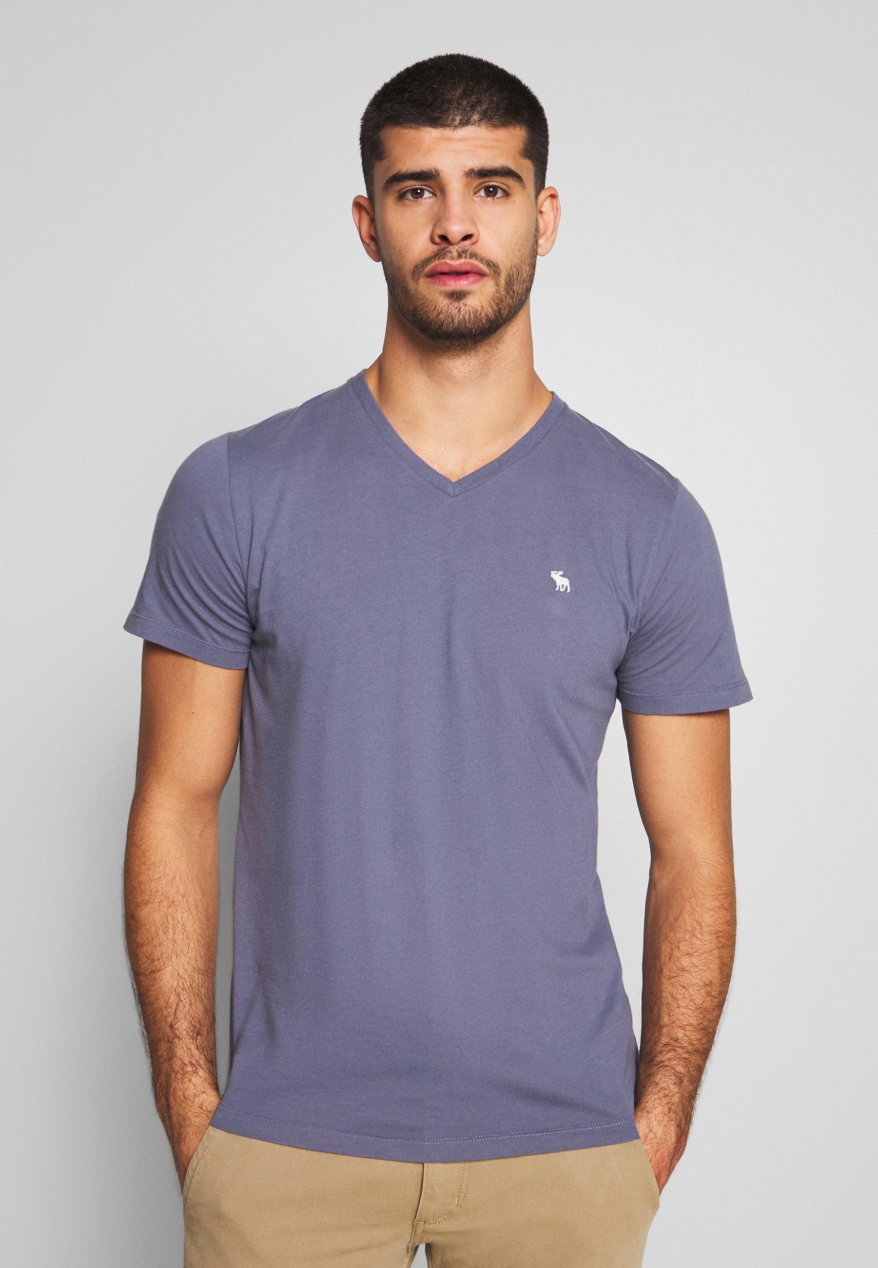 Abercrombie & Fitch NEUTRAL CREW 5 PACK T shirt basique