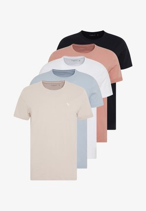 CREW MULTIPACK 5 PACK - T-shirt basic - peach/blue/white