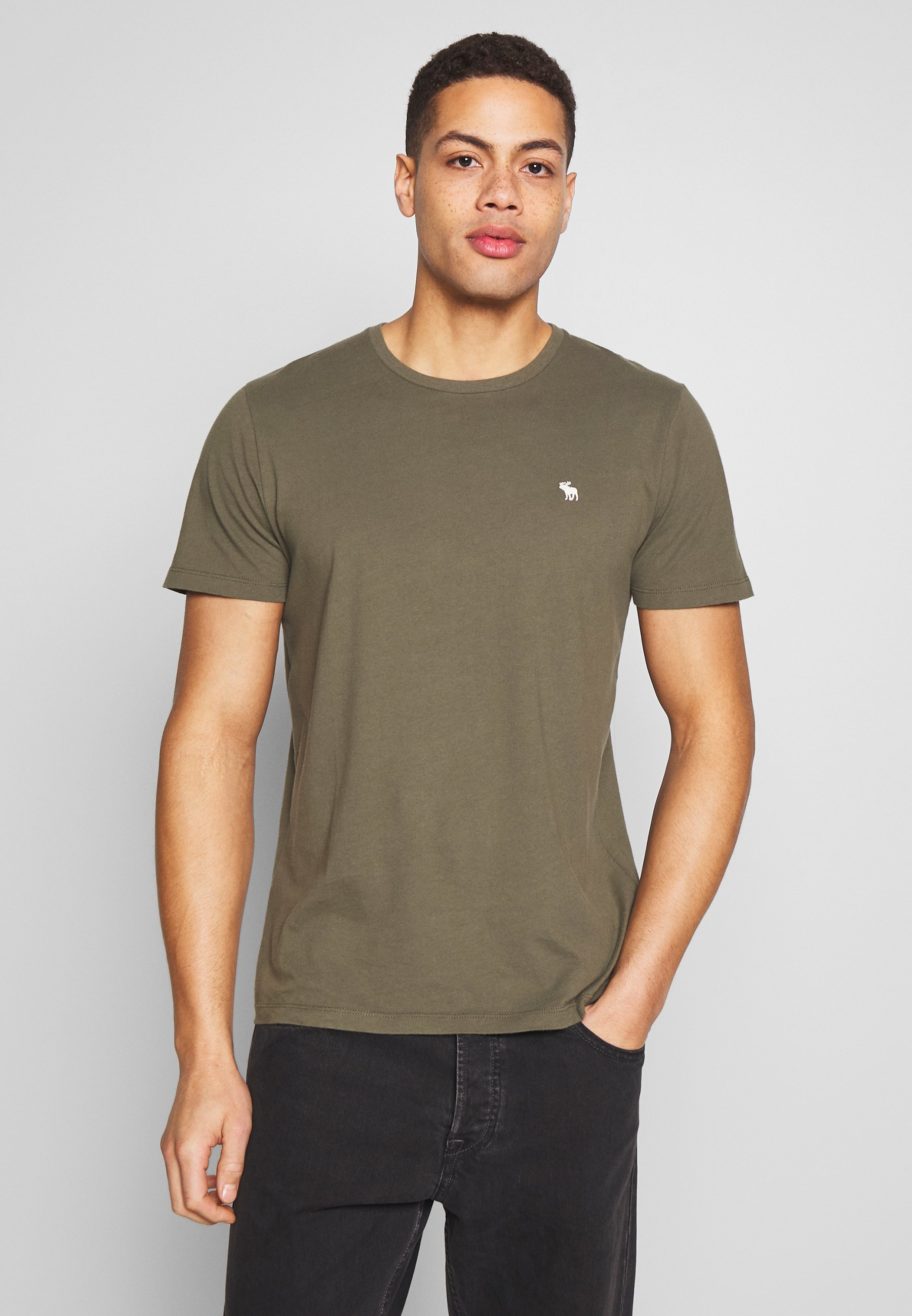 Abercrombie & Fitch CREW MULTIPACK 5 PACK - T-shirt basic - green/blue/white/red/grey
