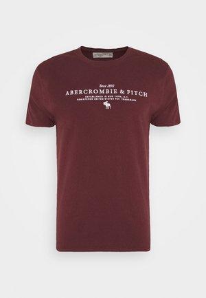 TECHNIQUE LOGO EUROPE - Print T-shirt - burg