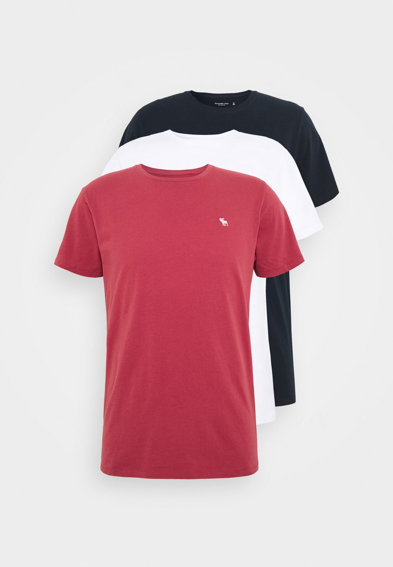 Abercrombie & Fitch - CREW 3 PACK  - Basic T-shirt - navy