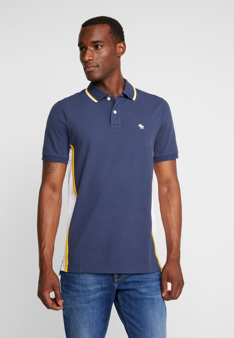 Abercrombie & Fitch - MODERN - Piké - navy/yellow