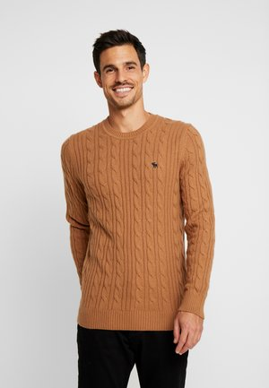 ICON CABLE CREW - Neule - brown